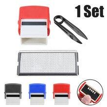 Stamp-Kit Name-Pad Garage Finger-Paint 1set-Of-Tools Not-Ink Diy Self-Inkingaddress Included