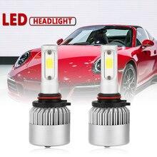 2pcs 9005 HB3 H10 S2 72W 8000LM 6000K White Light LED Car Auto Headlight Hi or Lo Beam Head Lamp for Vehicles
