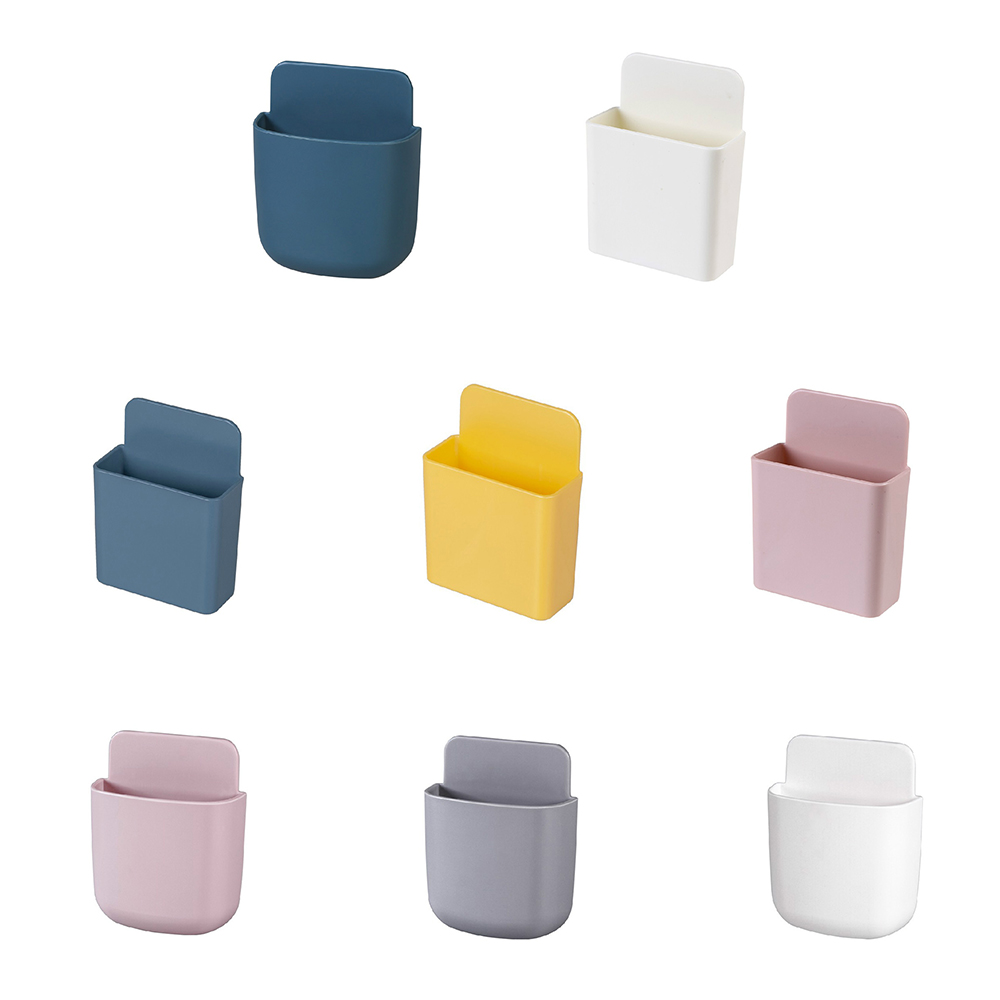 Wall-mounted Suction Hanging Storage Box Remote Control Free Punch Table Pens Holder Remote Control Rack Save Space Accessories