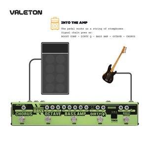 Image 4 - Valetonใหม่Dapper BASS Multi Effects Pedal 6 In 1 Multi Effectเบส,Chorus,Octaver,สกปรกQ & Boost Comp,จูนเนอร์VES 2