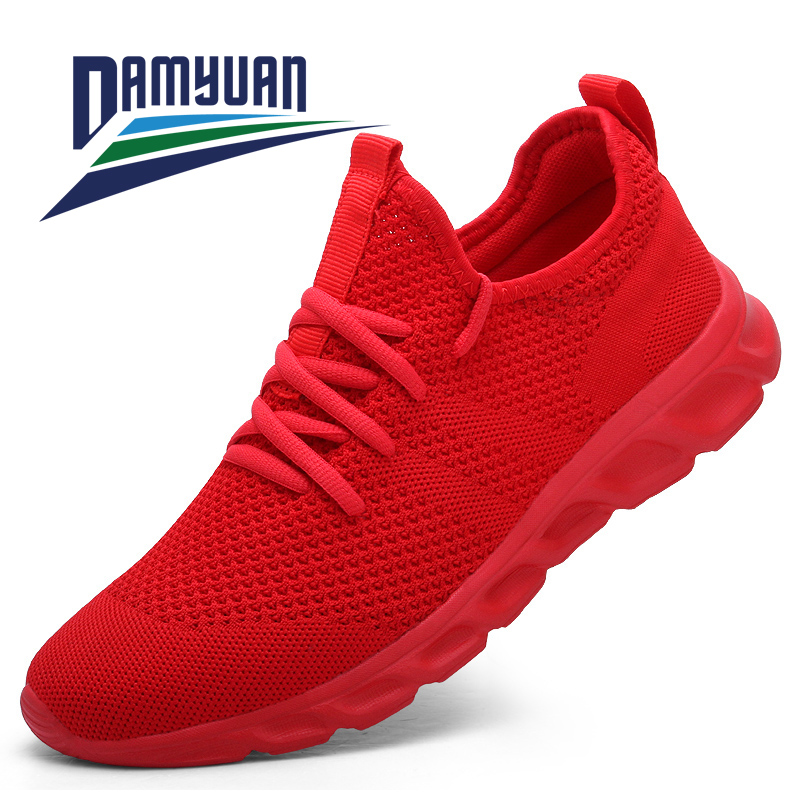 Jogging Shoes Man Sneakers Light Breathable Men's Anti-Odor Lace-Up