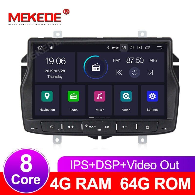 Menu russo frete grátis 4G RAM 1din rádio do carro DVD player multimídia para Lada vesta Android 9.0 núcleo octa com wifi GPS BT