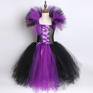Image 2 - Evil Queen Tutuชุดแม่มดMaleficentคอสเพลย์ชุด + Devil HornและปีกSleeping Beauty Dress Upสำหรับสาวปาร์ตี้ฮาโลวีน