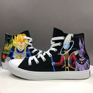 Wen Canvas Sneakers Shoes Dragon-Ball Whis Beerus High-Top Anime Unisex of Vegeta Goku