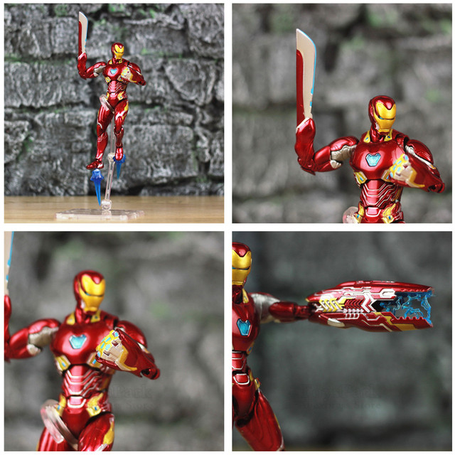 Marvel 6″ Iron Man MK50 HT Weapons Set Action Figure Ironman Nano Mark 50 85 KOs SHF Avengers Endgame Infinity War Hot Toys Doll
