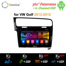 "Ownice 8Core 10.1 ""Android 9.0 Car DVD GPS Navi k3 k5 k6 per VW Golf 7 GTE R 2013 2014 2015 Radio Stereo 360 Panorama DSP SPDIF(China)"