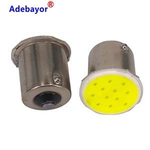 Image 4 - 100x P21W 1156 BA15S P21W LED Nhan Bóng Đèn COB 12 Chip Xe Hơi Ô Tô Trang Trí Nội Thất Đỗ Xe Kéo Phía Sau Nhan đèn 12V