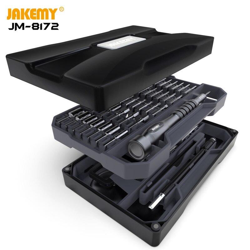 JAKEMY Original JM-8172 Multifunction Screwdriver Repair Tool Set S2 Magnetic Driver Bits for DIY Improvement Electronics repair