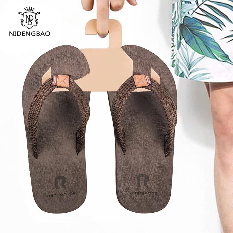 Size 40-50 Brand Flip Flops Men Summer Comfortable Cool Casual Shoes Man Non-Slip Beach Sandals Quick-drying Men Slipper Pantufa
