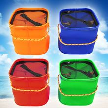 EVA Square Collapsible Bucket Live Fish Bag Car Wash Buckets Fishing Gear Accessories Supplies