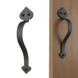 9 1/8In Matte czarna strona uchwyt do holowania do drzwi przesuwne w stylu europejskim w Uchwyty do drzwi od Majsterkowanie na