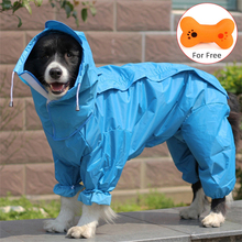 Large Pet Dog Raincoat Waterproof Rain Clothes Jumpsuit For Big Medium Small Dogs Golden Retriever Outdoor Pet Clothing Coat