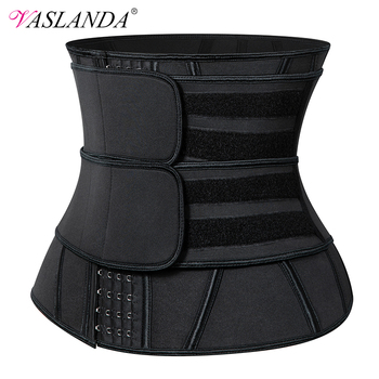 13 Steel Boned Waist Trainer Corset Cincher Sauna Sweat Faja Sport Girdle Slimming Shaper Abdominal Trimmer Belt Straps Modeling