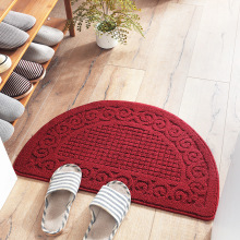 Retro semi-circular dusting mat door mats Bathroom bathroom anti-slip  set rug bath