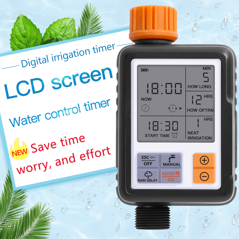 LCD Screen Electronic Automatic Water Timer Sprinkler Controller Outdoor Garden Timer Automatic Watering Device Irrigation Tools title=