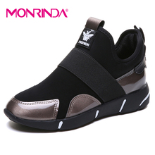 Monrinda Women Running Shoes Increase 3.5CM Sneaker Breathable Mesh Platform Comfortable Sporting Footwear Big 35-42