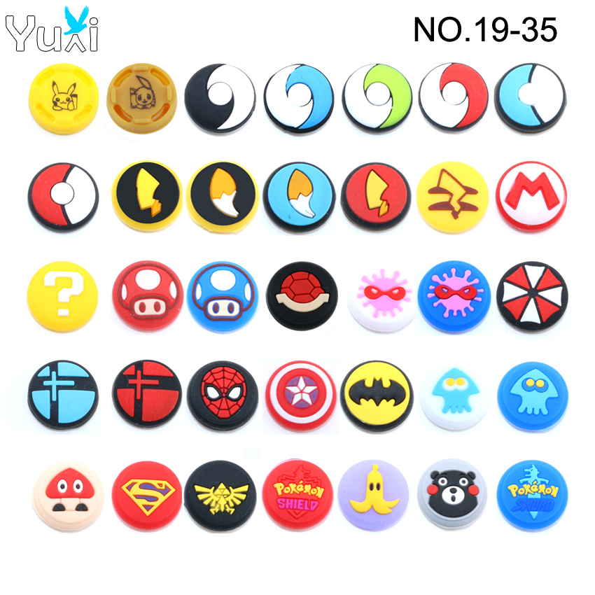 YuXi 2pcs Silicone Joystick Thumb Stick Grip Cover Case For Joy Con Analog Caps For Nintend Switch NS Joy-Con Controller