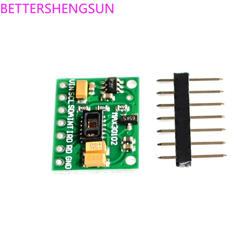 Free Shipping MAX30102 Chip Heart Rate Oxygen Concentration Wrist Heart Rate Pulse Detection Sensor Oxygen Sensor Module