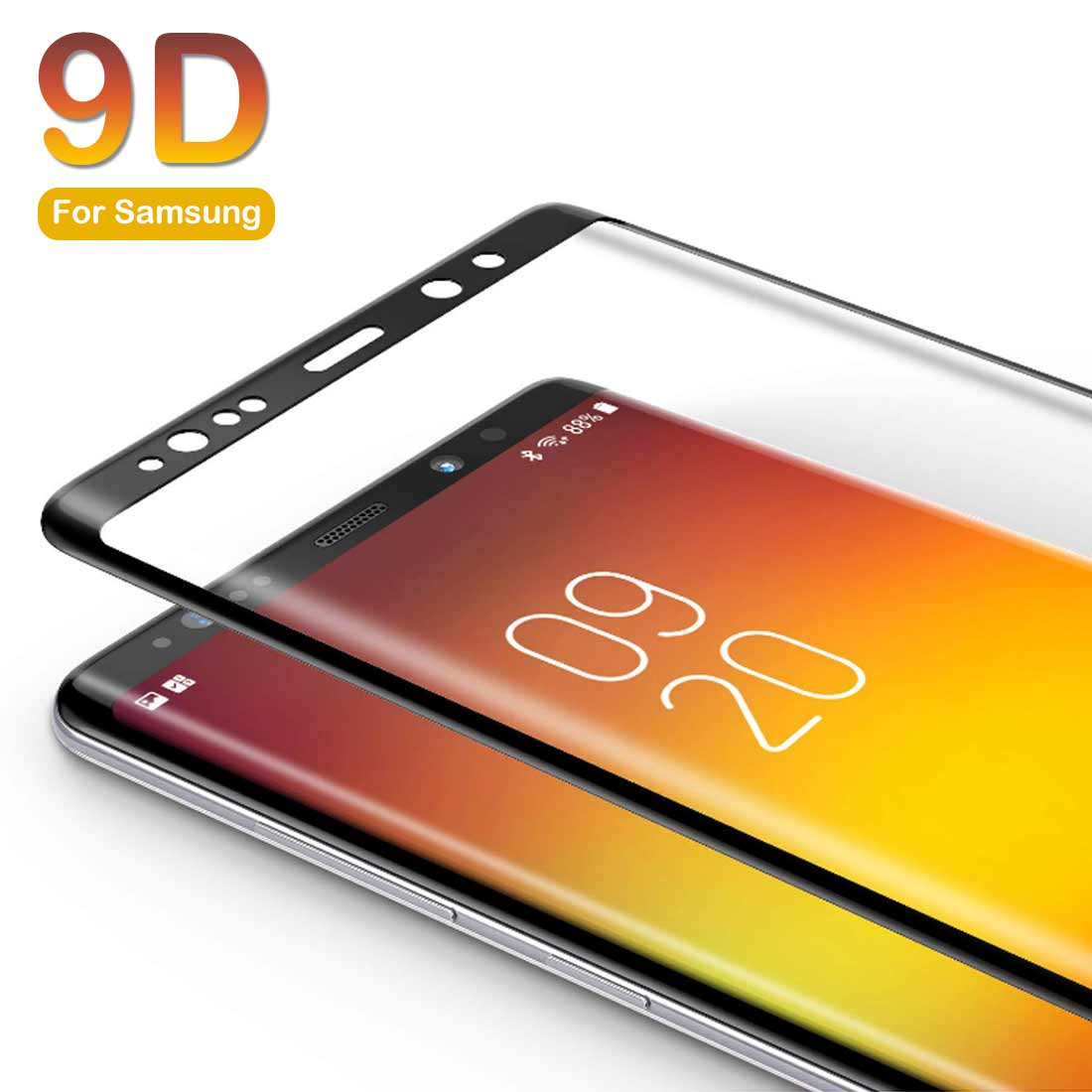 9D Full Cover Tempered Glass anti-scratch For Samsung Galaxy J3 A90 A80 A8plus <font><b>A82018</b></font> Perfect Screen Protective Glass image