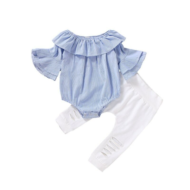 UK Infant Baby Girl Cotton Linen Clothes Romper Bodysuit Jumpsuit Outfits Summer