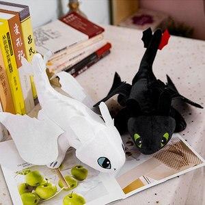 Image 2 - 15 60cm ejderhanı nasıl eğitirsin dişsiz ışık Fury oyuncak Anime figürü gece Fury ejderha peluş oyuncak bebekler oyuncaklar çocuklar çocuklar için