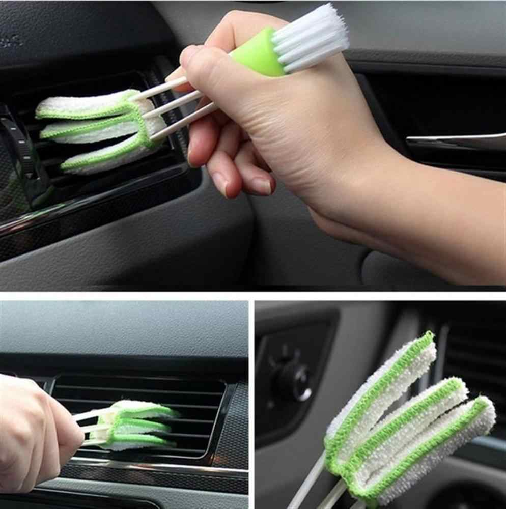 Air conditioner air outlet brushes for cars Multifunctional cleaning brush crevice Car interior dashboard cleaning brush angel