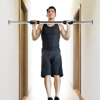Door Pull Up Bar Of 24-39 In Adjustable Length Provides Customizable Workout