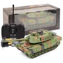 Tanque de combate militar de Control remoto para niños, juguete electrónico de tanque de guerra