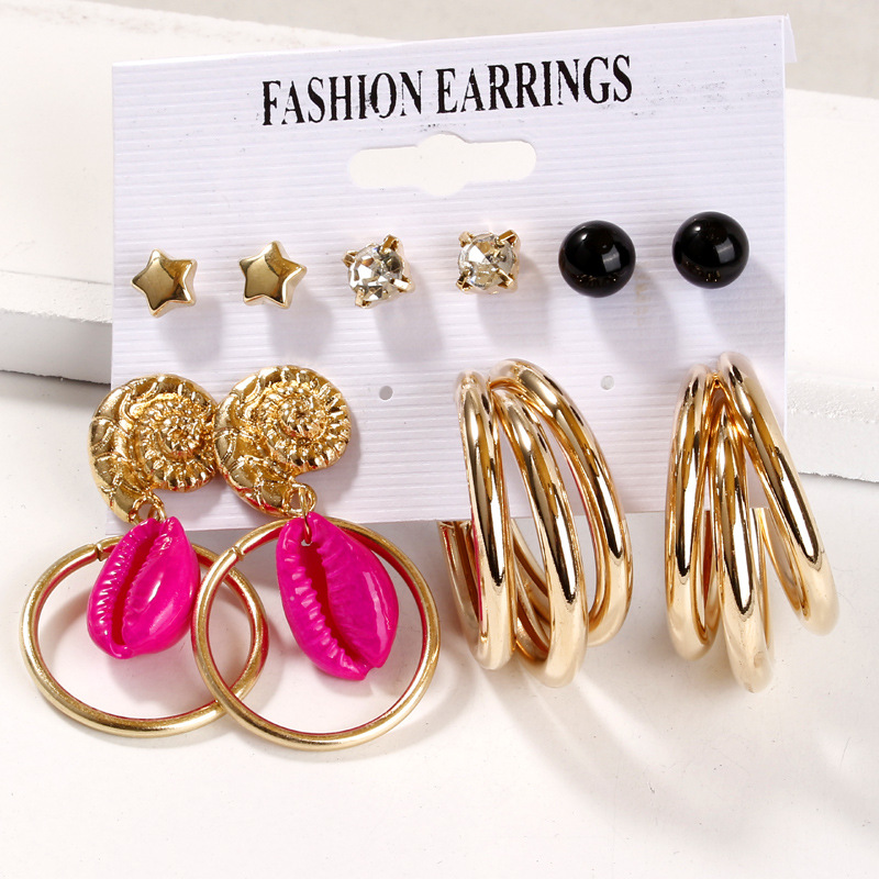Exknl Vintage Tassel Acrylic Earrings For Women Bohemian Earrings Set Big Long Dangle Drop Earring 2020 Female Fashion Jewelry