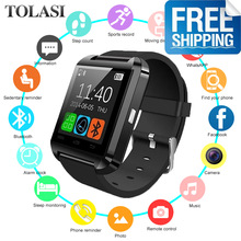 2019 New U8 Smart Watch Bluetooth Smartwatch U80 for IPhone 6 / 5S Samsung S6 / Note 4 HTC Android Phone Smartphones Android u8 smart bluetooth wrist watch 3 colors fashion men women watch u watch for android samsung s4 note2 3 htc lg sony