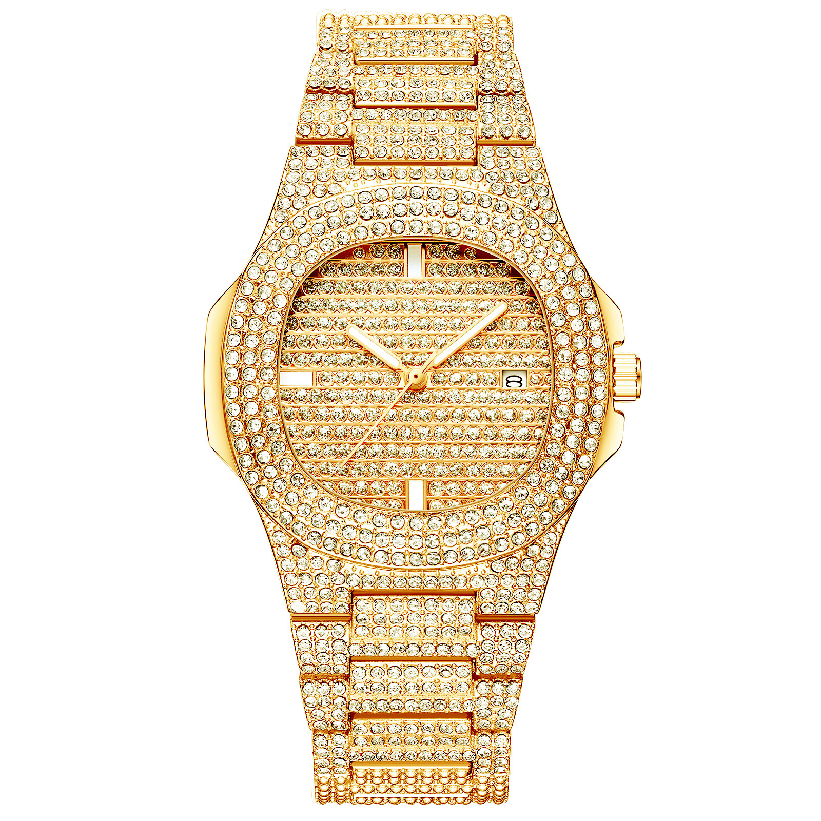 Arlanch Reloj Mujer Watch Women Luxury Diamond-Studded Square Calendar Quartz Wristwatches Stylish Water Resistant Crystal Gift