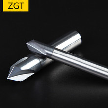 ZGT Chamfer End Mills 60 90 120 Degree Coated 3 Flute Endmill Carbide Tungsten Steel Chamfering Milling Cutter Mill 6mm 8mm