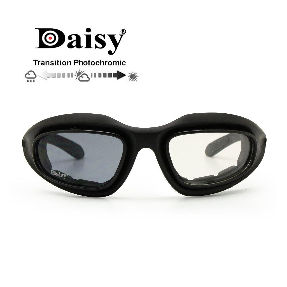 Óculos de Proteção Óculos de Sol Militar para Caça Anti-uv de Uso Óculos para Jogo de Guerra Daisy Militar Polarizado Lentes Esportivo Camada Ambientes Externos Masculino & Feminino c5 4