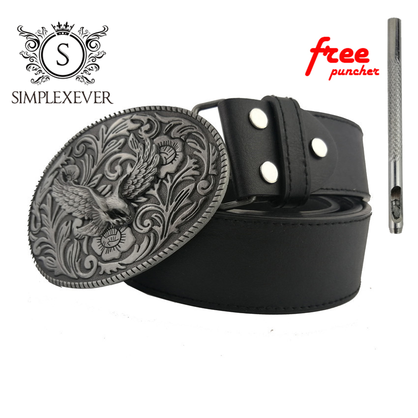 Flying Eagle Belt Buckles For Men Silver Zinc Alloy Mens Belt Buckle Head Jeans Accessories