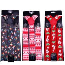 Рождественский стиль Мужская рубашка подтяжки для брюк держатель