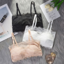 Strapless Bra Top Women Tube Tops Lace Wrapped Chest Sexy Lingerie Female Bandeau Top Seamless Stretchy Crop Top Soft Underwear цена