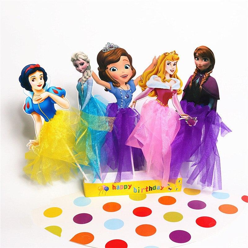 Wondrous Mega Deals Ra70E 1Pcs Cartoon Princess Birthday Party Funny Birthday Cards Online Inifodamsfinfo