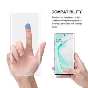 Image 4 - Full Glue Nano Liquid UV Tempered Glass For Samsung Galaxy Note 10 UV Screen Protector For Galaxy Note10 Plus Curved Glass