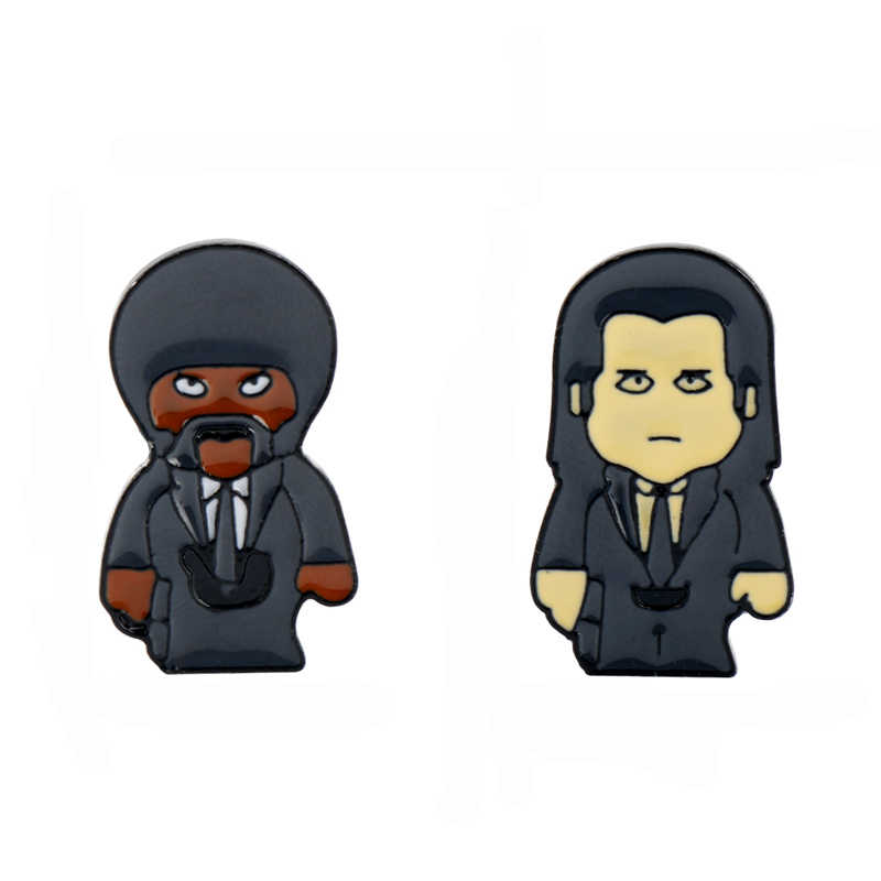 Dongsheng sieraden film pulp fiction Pin Broches Harde emaille pin Badges Speld Broches voor mannen vrouwen