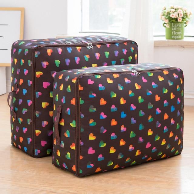 Oxford Cloth Quilt Storage Bag Luggage Storage Quilt Organizer Finishing Bag Travel Organizer Pouch