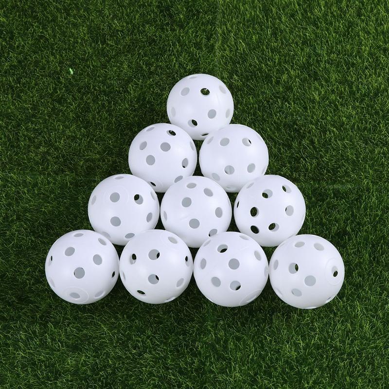 24pcs Air Flow Hollow Golf Balls Golf Practice Ball(White)