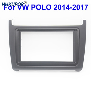 Image 1 - ABS פנים דאש מרכז קונסולת מחזיק Trim לוח פנל רדיו DVD לוחית מסגרת עבור פולקסווגן פולו 2014 2017 מסגרת ערכת