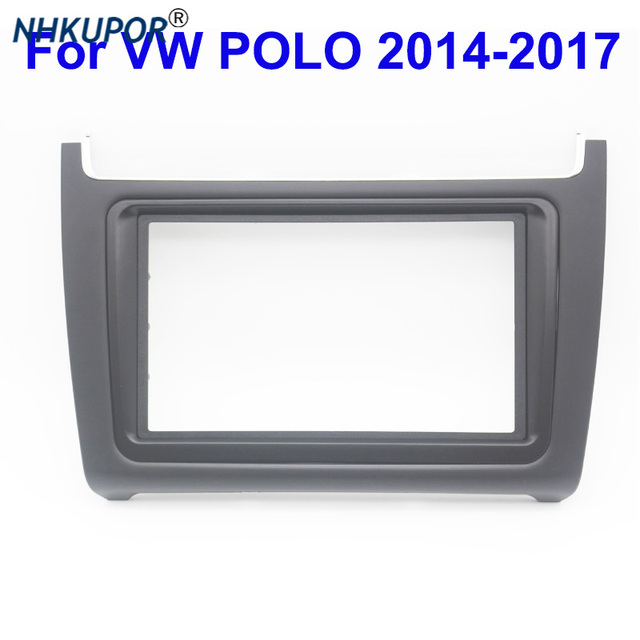 ABS פנים דאש מרכז קונסולת מחזיק Trim לוח פנל רדיו DVD לוחית מסגרת עבור פולקסווגן פולו 2014 2017 מסגרת ערכת