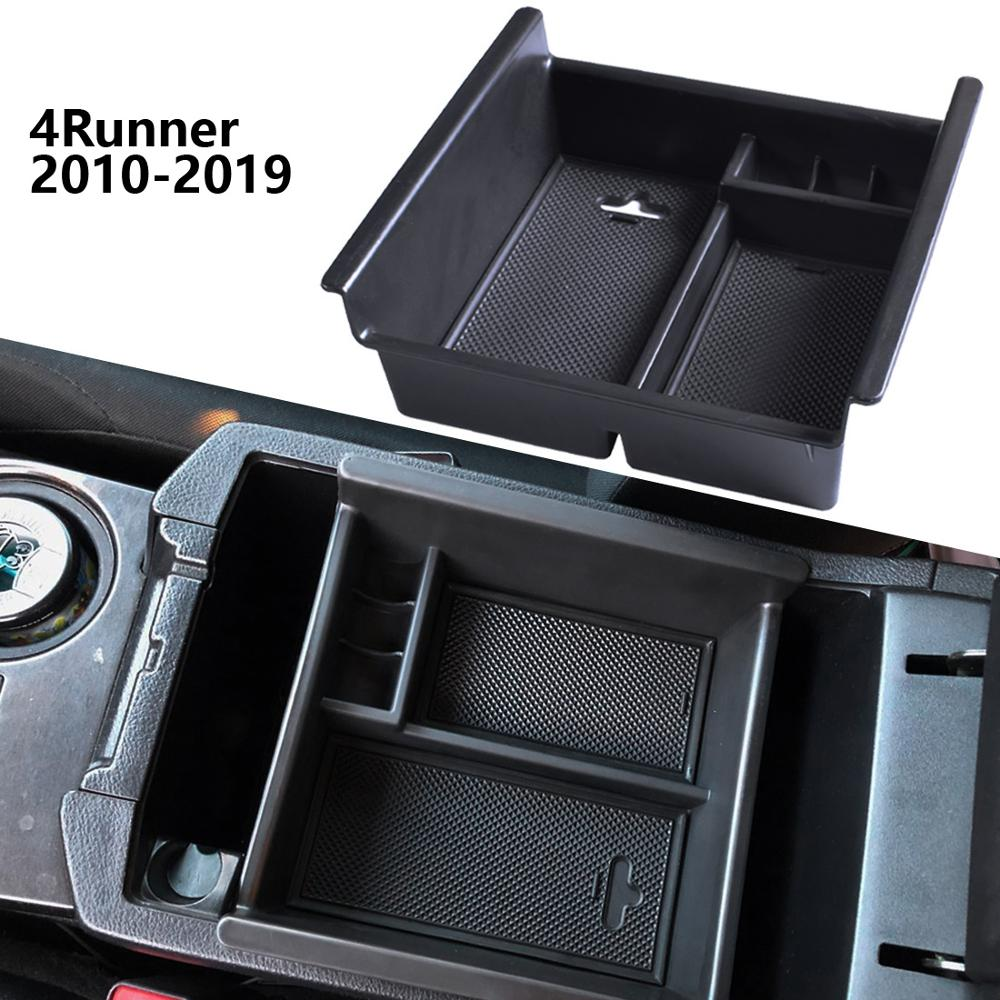 Center Console Organizer Tray For <font><b>Toyota</b></font> <font><b>4Runner</b></font> 2010-2019 Armrest Secondary Glove Box <font><b>4Runner</b></font> Accessories Container Holder image