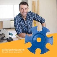 Bandeja de madeira disco de moagem hexagonal lâmina de madeira de alto desempenho escultura disco lixamento abrasivo ferramenta para casa suprimentos de madeira