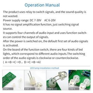 Image 4 - UNISIAN ses giriş seçimi kurulu röle 4 yönlü ses sinyal girişi 1 yollu out potansiyometre kontrol anahtarlama amplifikatör