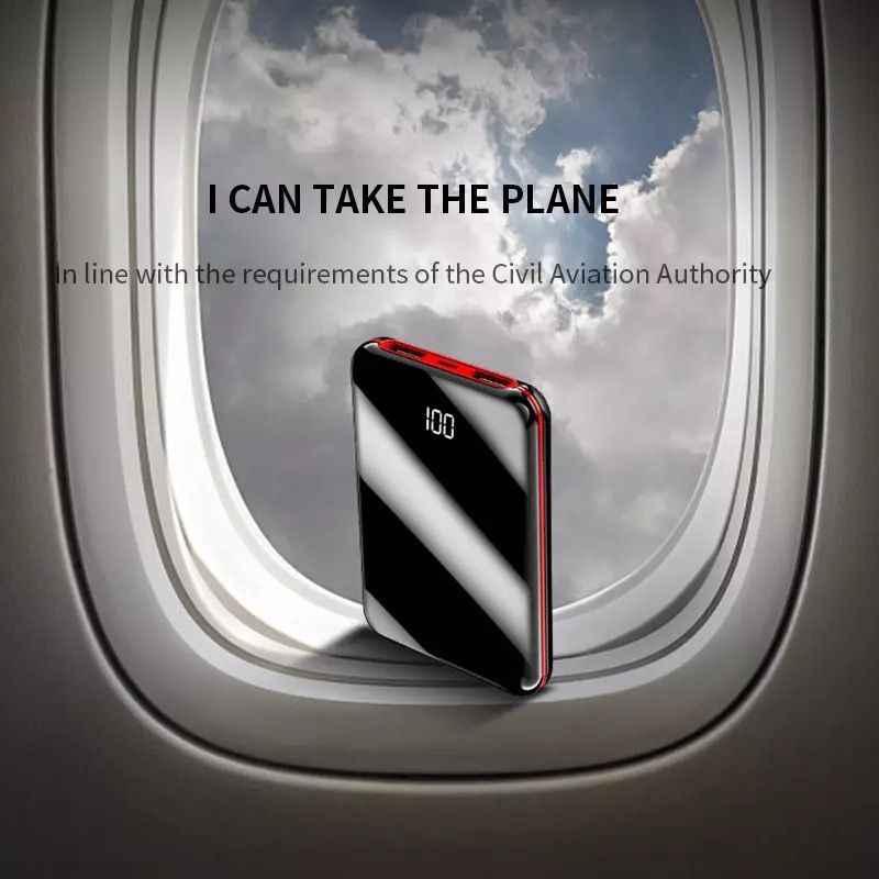 Mini Banca di Potere 20000mAh Powerbank Caricatore della Banca Pover 2 Porte USB Batteria Esterna Poverbank Portatile Per IPhone 8 Xs xiaomi