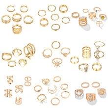 Tocona – ensemble de bagues couleur or argent pour femmes, bijoux minimalistes, nouvelle mode, alliance, cadeaux de mariage