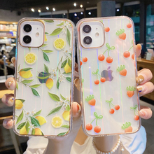 LOVECOM Clear Laser Fruit Phone Case For iPhone 11 12 Pro Max XS Max XR X 8 7 Plus Shockproof Soft Back Cover For iPhone 11 Case
