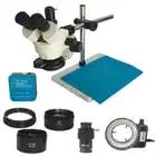 3.5X 90X Trinocular Stereo microscope magnifier zoom 38MP HDMI USB video microscopio Camera Jewelry phone pcb repair mat kit - 1